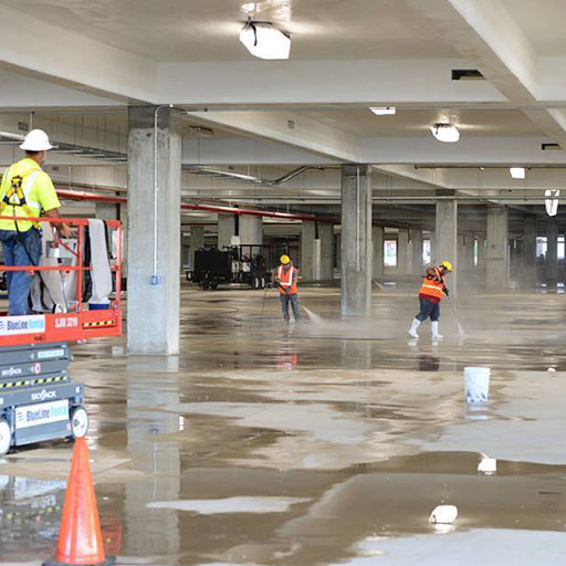 Parking Garage Hydro Cleaning second